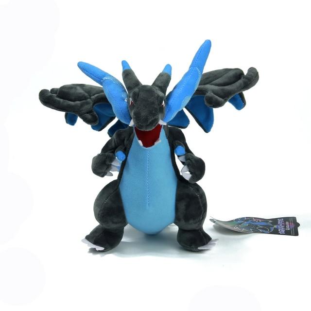 Японский Аниме Один миллион X Мега Charizard Mega 23 см Мягкие Плюшевые Игрушки Куклы Фигурки Подарки Для друга дети