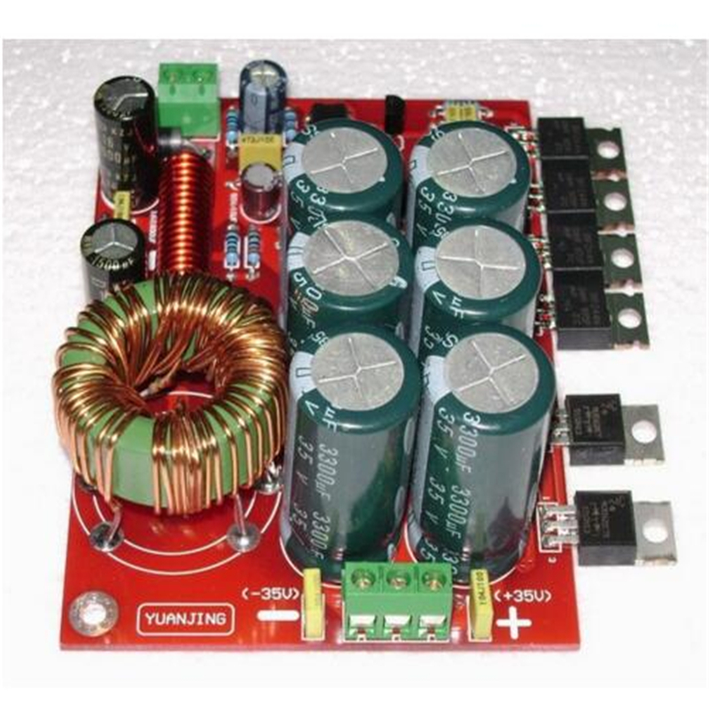 YJ0007 180W Car stereo audio amplifier Power boost board Single 12V input conversion double + -32V output