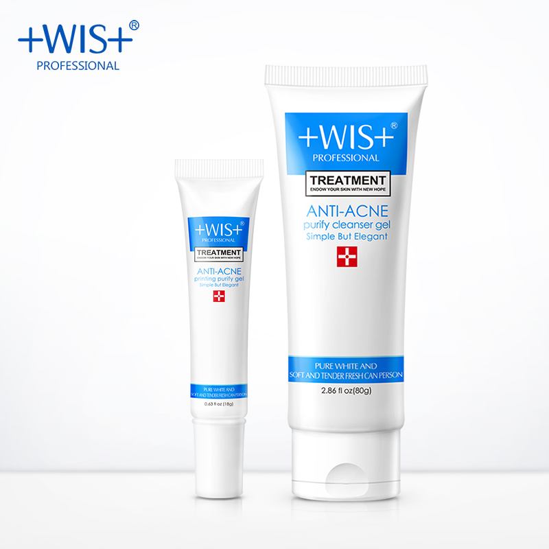WIS acne skin conditioning gel face cleanser skin care set deeply clean relieve acne marks black head remover oil control mythos clean skin купить оптом