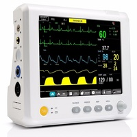 8 Inch Multi parameter Patient Monitor parameter NIBP,Spo2, PR,ECG,RESP,TEMP Vital Signs Monitor Accurate Medical Equipment