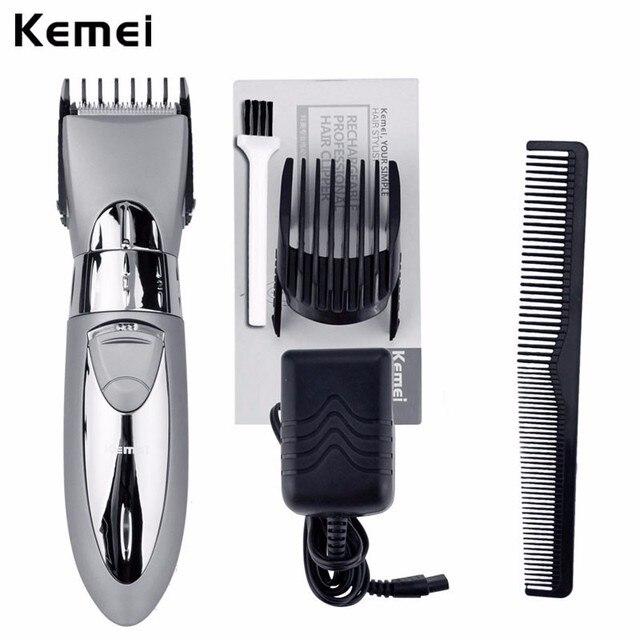 Kemei máquina de afeitar eléctrica recargable Pro barba Trimmer pelo  lavable bigote pelo para los hombres 0d8e3eebd174