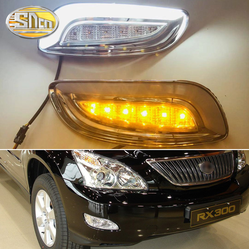 For Lexus RX330 RX350 2003 2004 2005 2006 2007 2008 2009 LED DRL Daytime Running Lights fog lamp With Turn Signal style relayFor Lexus RX330 RX350 2003 2004 2005 2006 2007 2008 2009 LED DRL Daytime Running Lights fog lamp With Turn Signal style relay