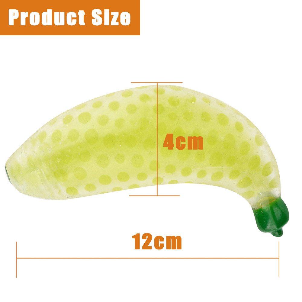 anti-stress Novelty Funny 12cm Rubber Banana Ball Hand Wrist Squeeze Toy Stress Autism Mood Relief Gifts New fun interesting toy