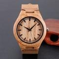Crative Deisgn Simples Relógios De Madeira Minimalista dos homens Originais Relógio de Pulso Relógio De Madeira De Bambu Esportes Homens Relógio Reloj de madera