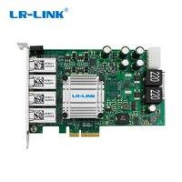 LR Link 9724HT POE видеоввода PCI Express X4 Quad Порты и разъёмы 1000 МБ Gigabit Ethernet сетевой карты для I350 T4 nic