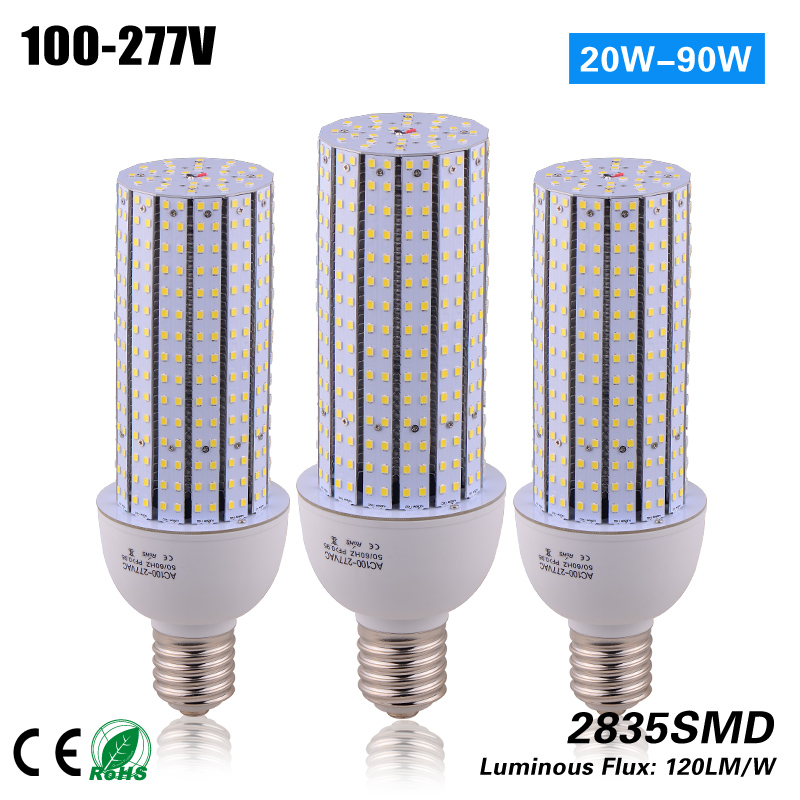 купить ETL CE ROHS Certificated E40 50w led corn light for 180w HPS MH replace street light 3 years warranty дешево