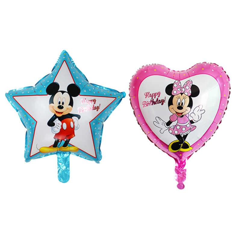 """1 шт/Лот все стиль Микки воздушный шар """"Минни"""" гелиевый воздушный шар День рождения воздушные шары для детей предметы для украшения дня рождения Globos"""