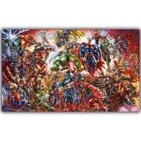 Marvel Comics DC Comics Superheroes Poster For Home Decoration Silk Canvas Fabric Print Poster Wallpaper DY1045