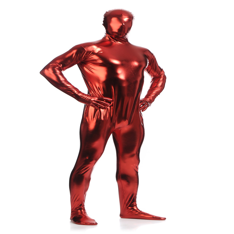 Adult Men New Full Body  Lycra Spandex Cosplay Clothes Skin Suit Catsuit Halloween Zentai Costumes Plus