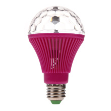 Universal Usage E27 3W Colorful Auto Rotating RGB LED Bulb Stage Light Party Lamp Disco  MTY3