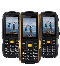 Original x6000 GSM viejo teléfono IP67 Resistente A Prueba de agua de Alto Nivel teléfono móvil 2 sim banco FM Ruso Teclado led linterna