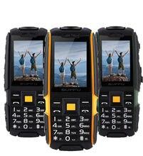 Оригинал x6000 GSM Старший старик телефон IP68 Водонепроницаемый Прочный мобильный телефон 2 sim FM Power bank Русская Клавиатура led фонарик