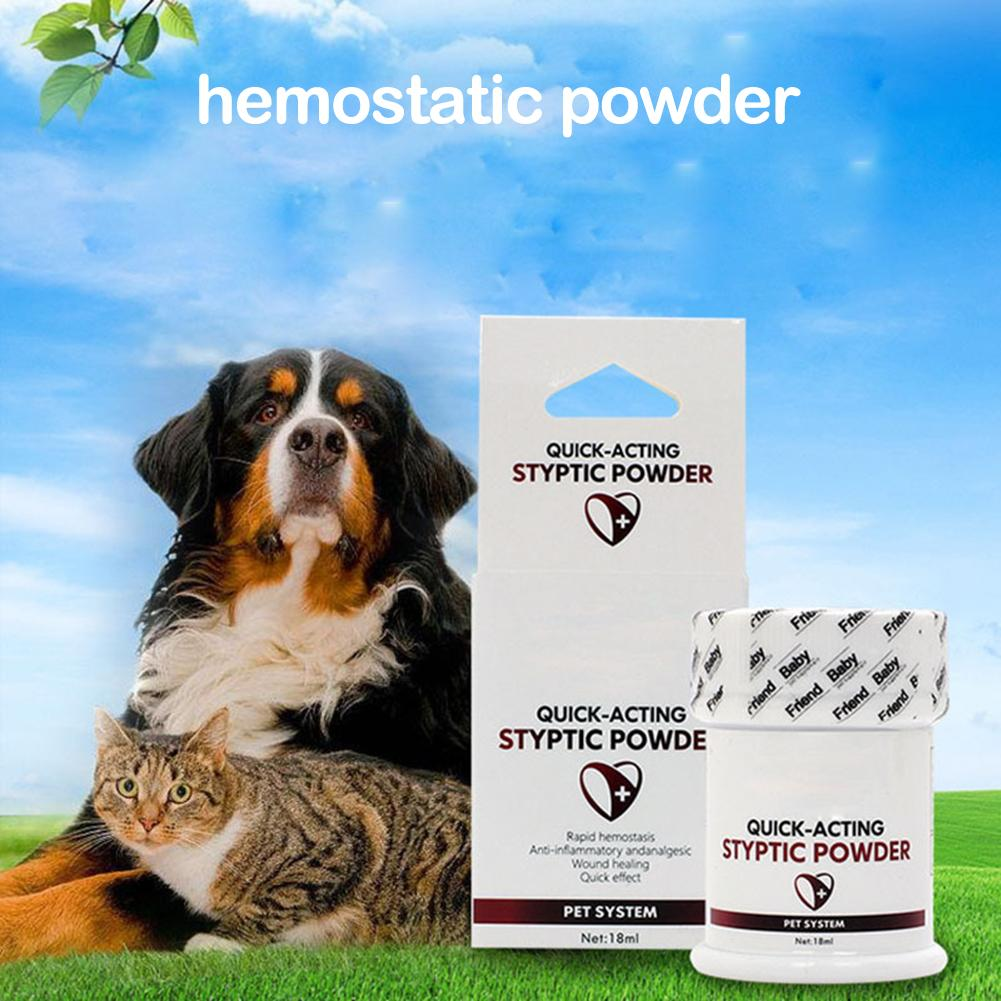 Pet Styptic Stop Bleeding Powder For Dogs Cats Birds Anti-inflammatory Antibacterial Broken Injury Traumatic Hemostatic Powder