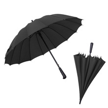 JPZYLFKZL16k Hot sell long handle outdoor straight umbrella large golf umbrellas two or three people compact parasol
