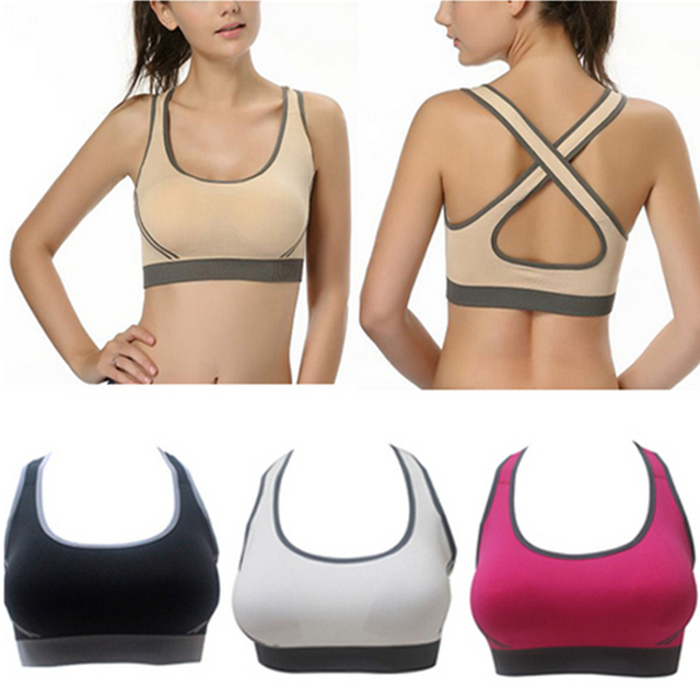 fe632a690738f Sexy Women Seamless Yoga Sports Bra Crop Top Vest Comfort Stretch Bras  Shapewear Padded Sujetador Deportivo Sports Underwear