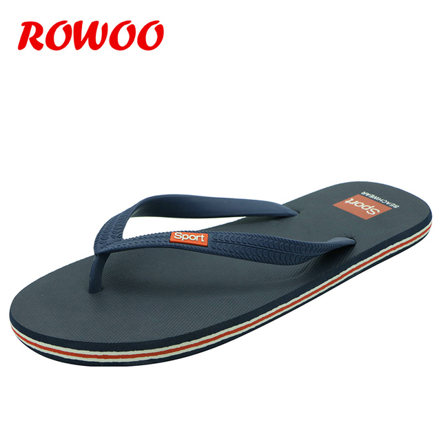 199ac541631e Mens Slippers Summer Shoes High Quality Durable Real Rubber Beach Casual Sport  Flip Flops Male Outdoor