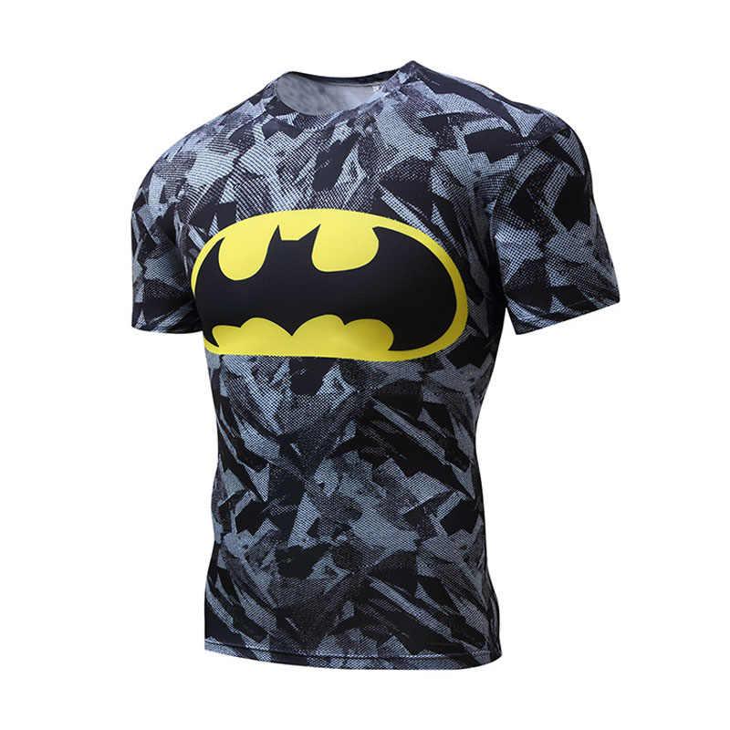 באיכות גבוהה פוליאסטר 3D מודפס חולצות גברים דחיסת חולצה חדשה קצר שרוול כושר חולצה בגדי לזכר קרוספיט חולצות