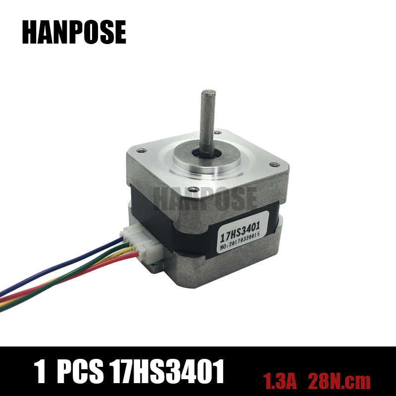 Free shipping and Quality 17HS3401 4-lead Nema 17 Stepper Motor 42 motor 42BYGH 1.3A CE ROSH ISO CNC Laser and 3D printer головка jtc 4701