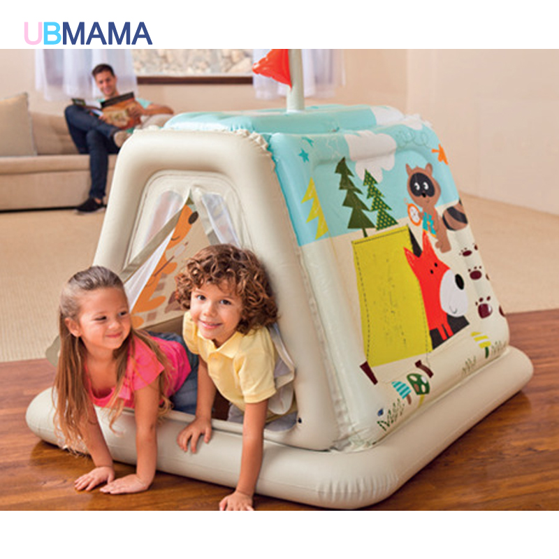 Children Inflatable Toys Trampoline Household Type  Indoor Outdoor Trampoline Playgroud Play Ball Pool 127*112*116CM inflatable sand tray plastic mobile table for children kids indoor playing sand clay color mud toys accessories multi function