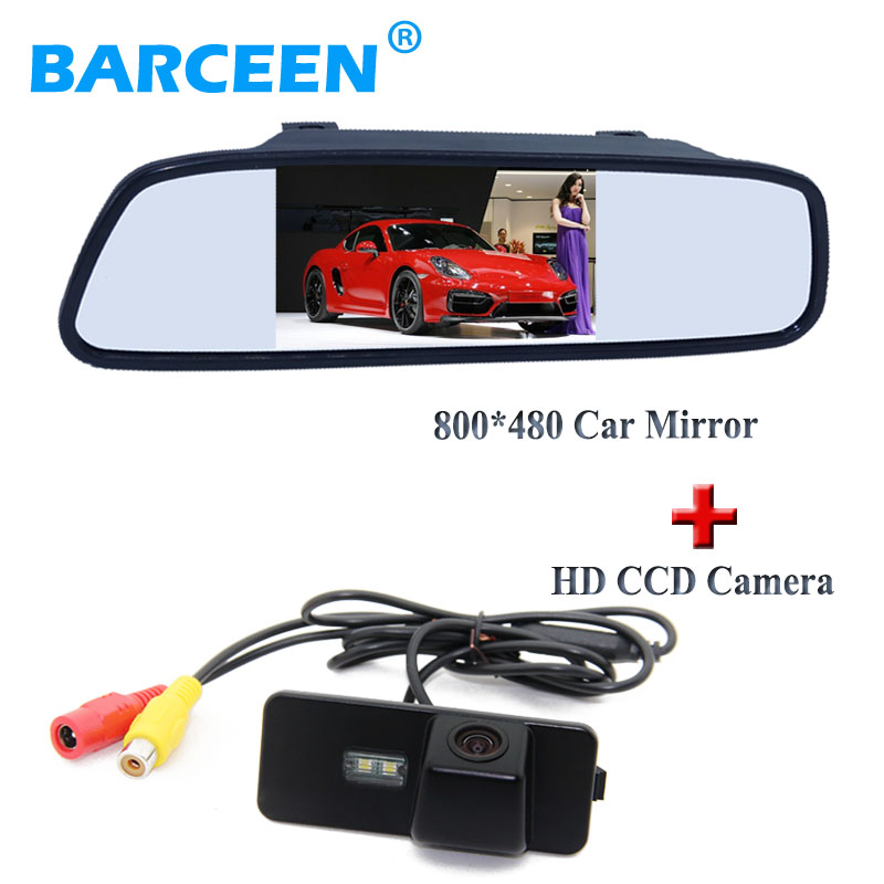 170 angle car rear view parking camera+4.3 car mirror for Volkswagen VW Magotan PASSAT CC /Golf 5/ POLO hatchback / Jetta leewa for volkswagen golf6 magotan beetle scirocco bora polo passat b7 hd auto backup rear view car camera ca4828