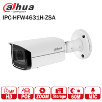 Dahua 6MP IP Camera IPC HFW4631H ZSA Upgrade version of IPC HFW4431R Z with Build in Microphone SD Card slot PoE Camera 6MP HD