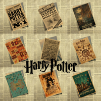 New Harry Potter Vintage Retro Kraft Poster Decorative DIY Wall Stickers Home Bar Posters Decor Gift