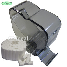 1 pc Dental Cotton Roll Dispenser & 50 pcs Rotating-type Molar Shaped Black