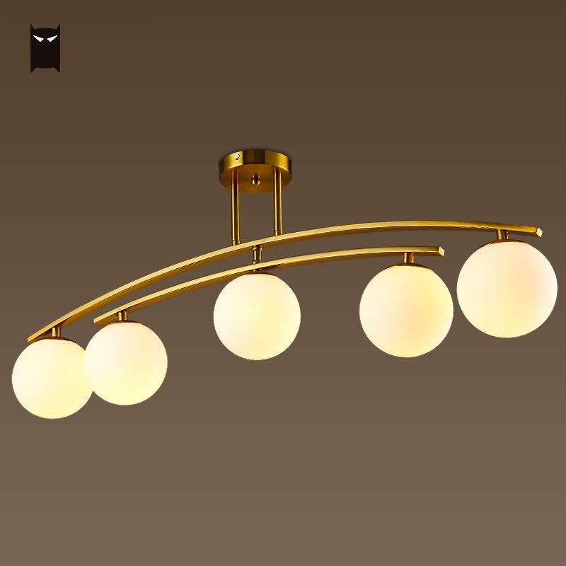 Gold Iron Milky Frosted Glass Ball Scale Chandelier Lighting Fixture Nordic Modern Fashion Pendant Ceiling Lamp Lusre Luminaire