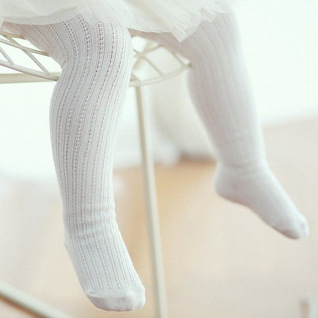 9f7b37d213af1 Kids Baby Girls Knitted Tights White Pantyhose Stretch Long Pants Trousers  Bottoms M2