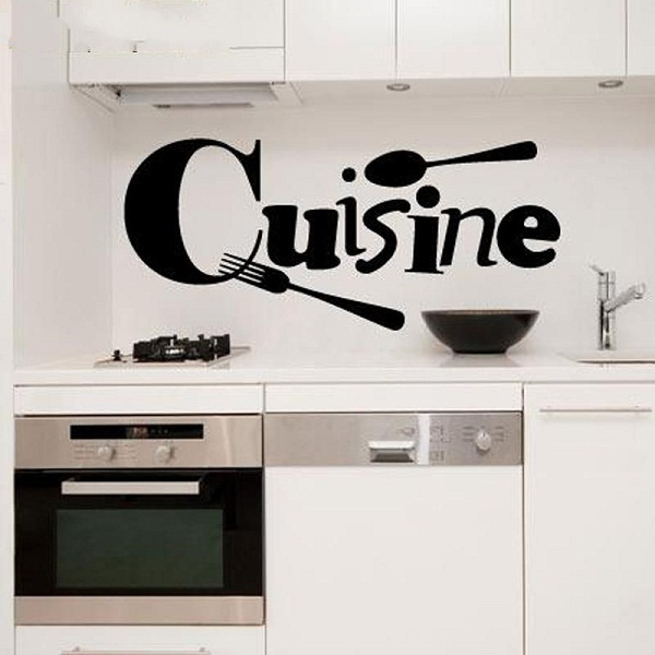 Cute Wall Stickers Cuisine French Vinyl Home Wallpaper Sticker Mural Art Wall Decor Kitchen Vinyl Wall