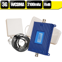 550 Square Meter 3G WCDMA Cellular Signal Booster 70dB Gain 20dBm Cellphone Repeater 3G UMTS 2100mhz