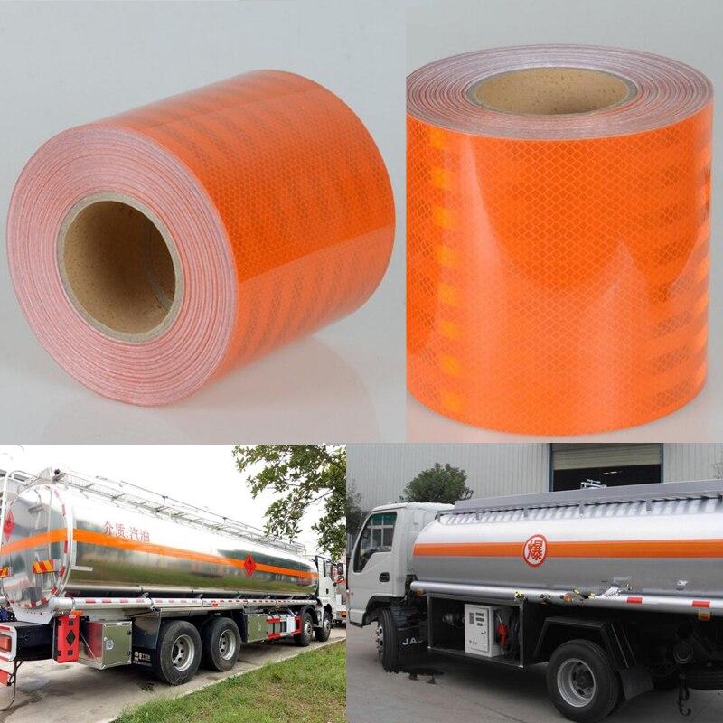 Image 3 - 15 см X 5 м высокое качество светоотражающий оранжевый пояс Авто Супер Класс Светоотражающая наклейка 15 см оранжевая Светоотражающая предупреждающая лентаСветоотражающий материал    АлиЭкспресс