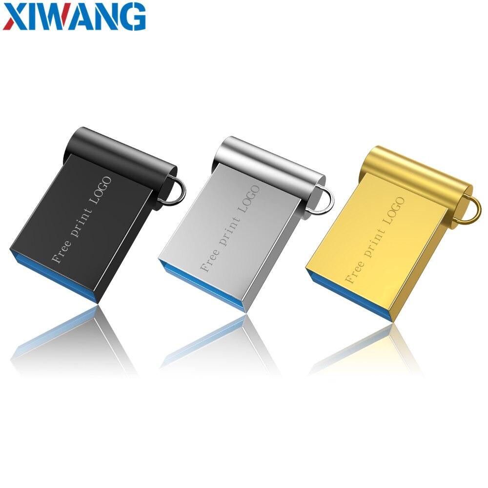 Super Mini Usb Flash Drive 32GB Metal Usb Stick 3.0 16GB Pen Drive 64GB Pendrive 128GB Flash Disk 8GB Key Ring Free Custom LOGO