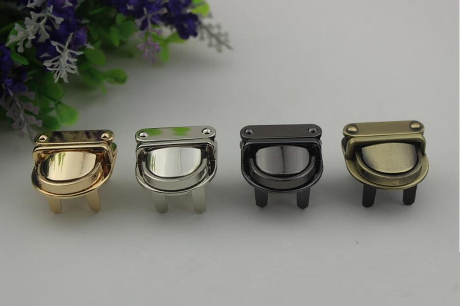 Free Shipping 3.7cm Solid Bag Lock Handbag Buckle Bag Accessories Purse Snap Clasps Suitcase Snap Lock Luggage Hardware Fittings