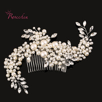 Exquisite Handmade Novies Simulated Pearl Hairpiece Wedding Hair Accessories Bridal Hair Clip Headwear Hair Combs RE283