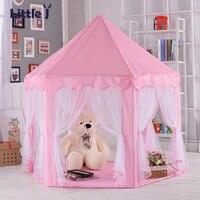 little-j-portable-kids-toys-play-tents-girls-princess-pink-castle-children-outside-garden-fold-tent-balls-pool-play-lodge