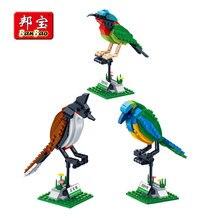 BanBao строительные блоки 3 птицы набор знания о животных кирпичи развивающие игрушки модель совместима с Legoe Дети Детский подарок 5123