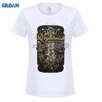 GILDAN T Shirty Z Krótkim Rękawem Nightwish damskie Nieograniczone Formy Najpiękniejsze Electric Factory Tour T-shirt Czarny