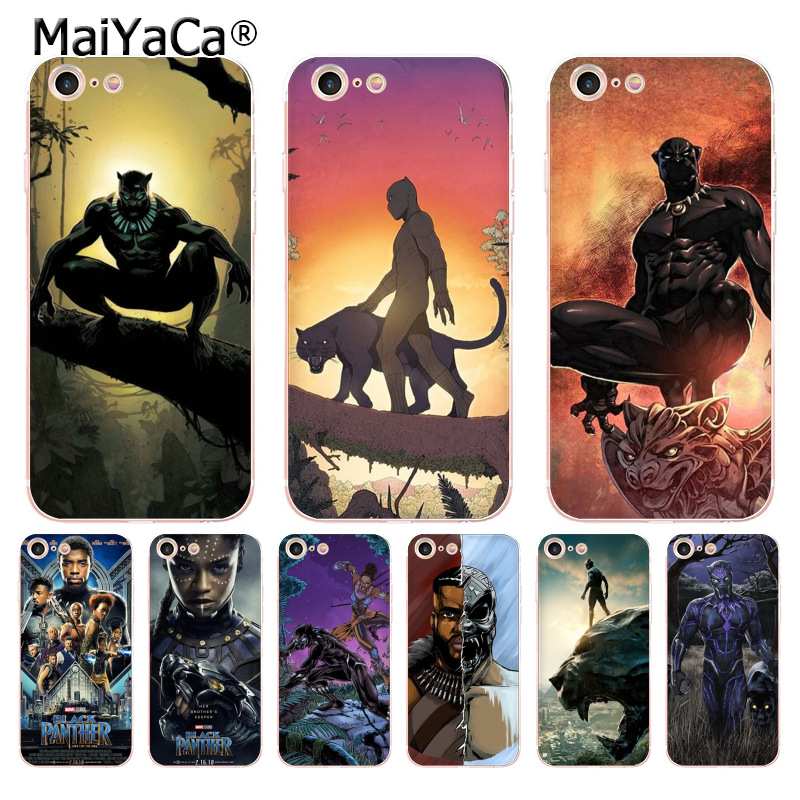 MaiYaCa 2018 TV Avengers Marvel Comicss Black Panther Phone case cover for iPhone 8 7 6 6S Plus X 10 5 5S SE 5C case Coque