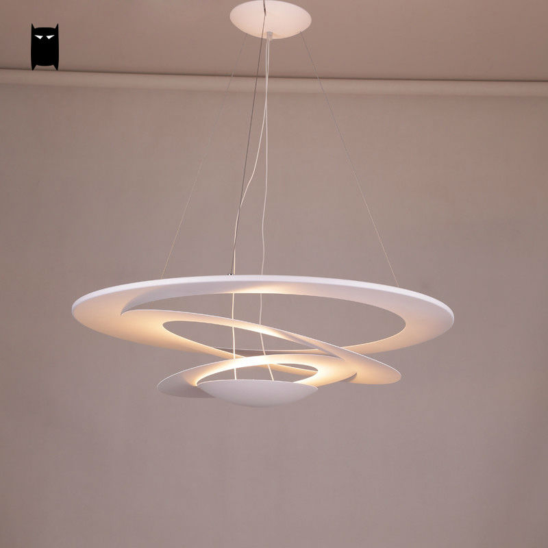 White Iron Whirl Pendant Light Fixture Modern Nordic Fashion Hanging Lamp Lustre Avize Luminaria Design Living Dining Table Room wood pinecone pendant light fixture modern nordic antichoke hanging lamp lustre avize luminaria dining table room restaurant
