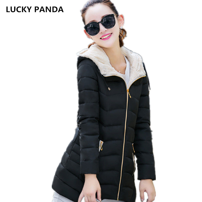 Lucky Panda 2016 new slim fashion size in the long winter thick cotton padded coat LKP232 lucky panda 2016 the new winter coat and female slim in the long and small lattice fragrant cotton lkp243