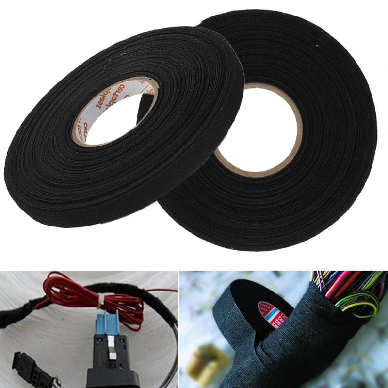 popular wire harness tape buy cheap wire harness tape lots from 1pc black anti wear adhesive cloth fabric tape looms wiring harness tape 25m x 9mm