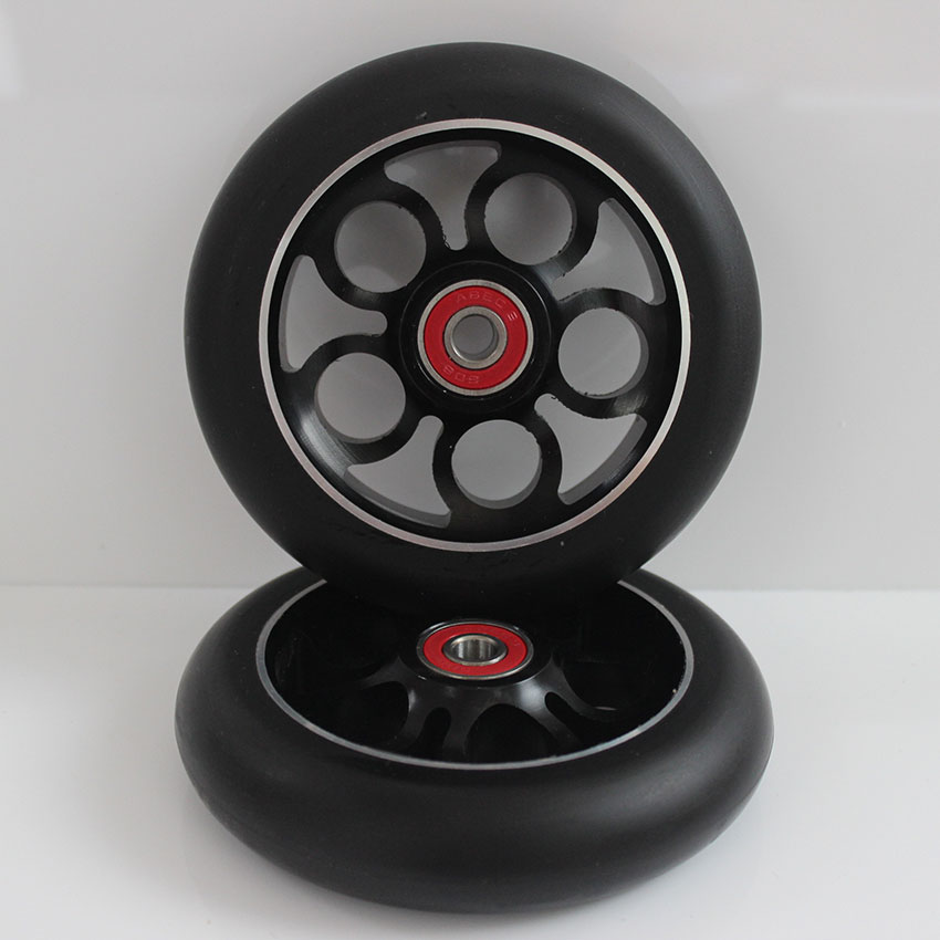 2 Wheels (including Bearings) Professional Stunt Scooter Wheels 110x24MM  88a