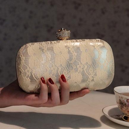 ФОТО Luxury Lace 2017 Mini Women Evening Bags Designer Women Clutch bag Chain Rhinestone Wedding Bridal bag Ladies Wallet Purse