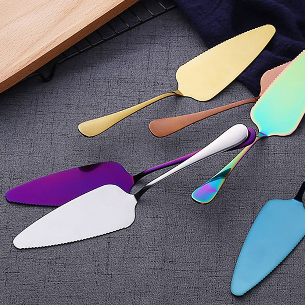 Image 5 - Colorful Stainless Steel Serrated Edge Cake Server Blade Cutter Pie Pizza Shovel Cake Spatula Baking Tool 1piece-in Baking & Pastry Spatulas from Home & Garden