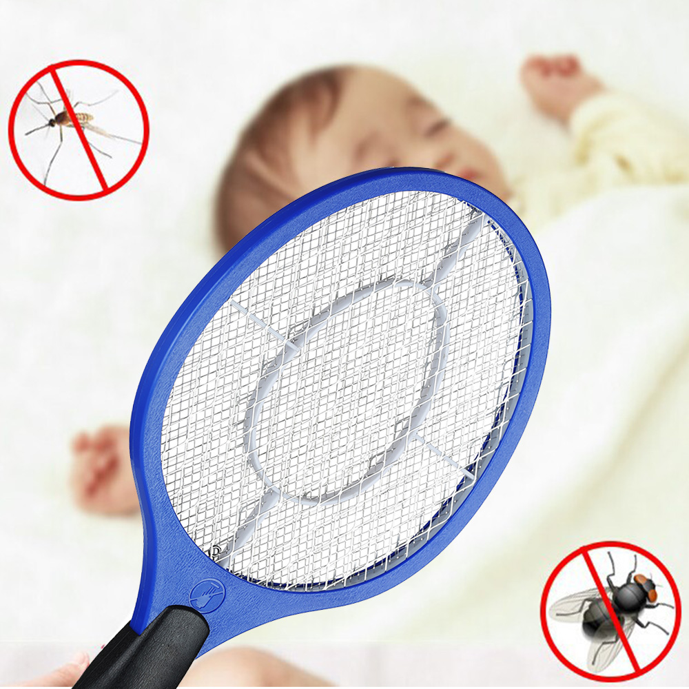 NEW Electric Mosquito Swatter Anti Mosquito Fly Repellent Bug Insect Repeller Reject Killers Pest Reject Racket Trap Home Tool