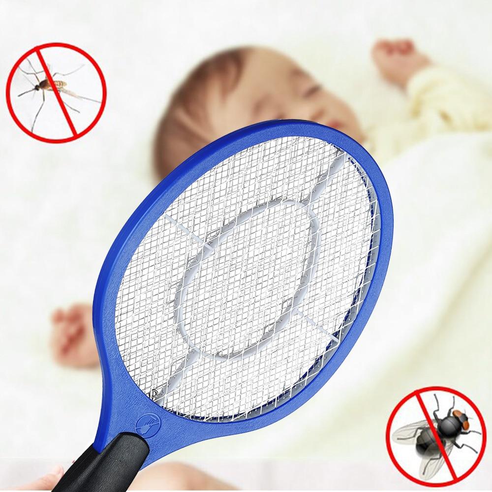NIEUWE Elektrische Mug Swatter Anti Mosquito Fly Repellent Bug Insect Repeller Verwerpen Killers Pest Verwerpen Racket Val Thuis Tool
