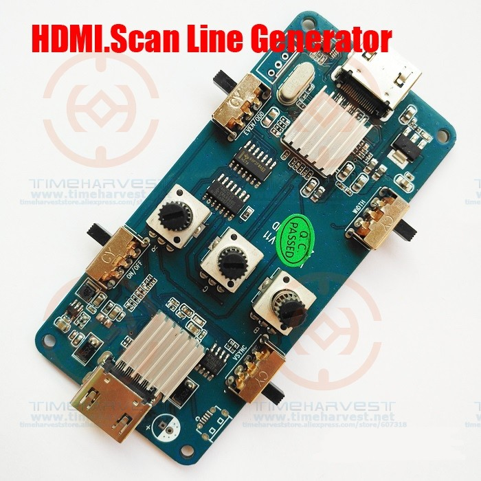 HDMI Video Output Image Scan Line Generator Perfect recall of CRT.15KHZ video image display effect for LCD arcade game machine ebsd image