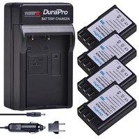 4PCS EN EL9 EN EL9 EN EL9a EN EL9a EL9a Camera Li ion Battery AKKU For + Car charger for Nikon EN EL9a D40 D60 D40X D5000 D3000