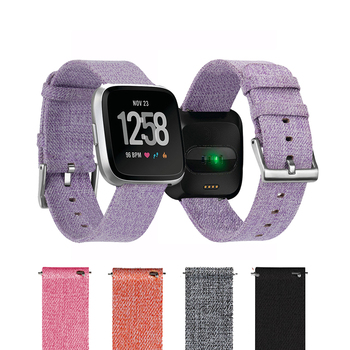 Watch Band for Fitbit Versa 2 Woven Fabric Quick Release Replacement Strap Bracelet for Fitbit Versa Lite Fitness Smart Watch